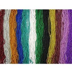 """144 Piece ~ Beaded Necklace Assortment ~ 33"""" ~ Assorted Colors ~ New ~ Mardi Gras, Party Favors by RI. $21.99. These 33-inch beaded necklaces come in a variety of colors."""