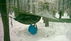 Wow-hammock camping in the snow!