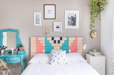 Transforme o visual do seu quarto com este projetinho lindo de cabeceira DIY! O passo a passo é simples de fazer, vem aprender!