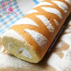 Japanese Swiss Roll Recipe, Vanilla Swiss Roll Recipe, Japanese Roll Cake, Swiss Roll Cakes, Swiss Cake, Brownies, Diet Cake, Cake Roll Recipes, Log Cake