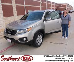 Congratulations to Gina Soles on the 2013 #KIA #Sorento