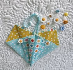 Small fabric origami pockets - great for storing little treasures.