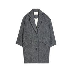 BEN COAT (33.715 RUB) ❤ liked on Polyvore featuring outerwear, coats, jackets, coats & jackets, boyfriend coat e single breasted coat