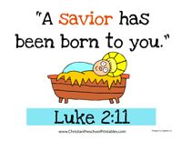 Luke 2:11 Bible Verse Printables