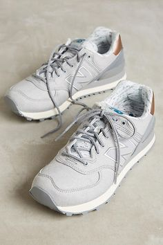 new balance rose gold trainers 574