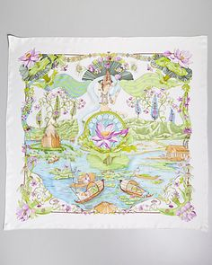 "Hermes ""Sarasyasti"" by Zoe Pauwels Silk Scarf                                                                                                                                                                                 More"