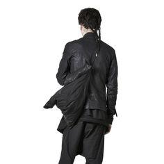 Shop Sustainable Luxury Avant-garde Designer Barbara I Gongini Black Leather Tote Bag at Erebus