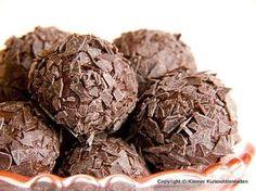 Schoko-Whisky-Kugeln - Gudrun E. Chocolate Truffles, Chocolate Fudge, Chocolate Muffins, Peanut Butter Cups, Candy Recipes, Desert Recipes, Oreo, Tapas, Bakery