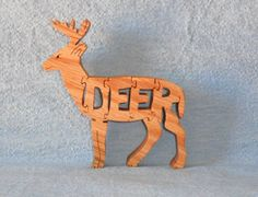 deer puzzles for scroll saw | Deer (Standing) Wooden Scroll Saw Puzzle