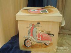 Κουτί βάπτισης αγόρι Boy Christening, Baby Time, Vespa, Little Boys, Toy Chest, Storage Chest, Toys, Wedding, Accessories