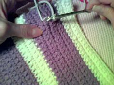 How to Crochet:  Writing on Single Crochet Fabric with Slip Stitches #diy #crafts www.BlueRainbowDesign.com