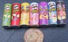 Pringles Packets Miniature Dolls House Food Snacks