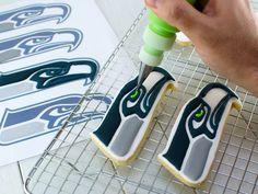 Seahawks cookies - American holiday status for sure, when we have Superbowl cookies!