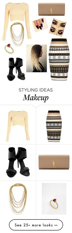 """Untitled #68"" by shelbyroseee on Polyvore featuring Boohoo, River Island, Yves Saint Laurent, Keepsake the Label, Rosantica and Me & Zena"