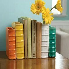 Or you can try a terracotta book vase to be a book end and a planter: Decor Inspo That Is Bookish *and* Classy AF Home Decor Items, Home Decor Accessories, Decorative Accessories, Diy Home Decor, Interior Design Tools, Vases, Idee Diy, Creative Co Op, Inspirational Gifts