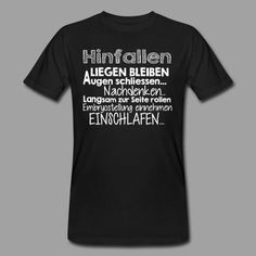 Hinfallen... Lustige Sprüche Shirts