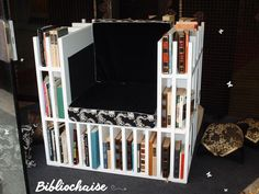 Do you love #books? You'll love my #bibliochaise! #doridesign #art #creativity #design #diy #wood #furniture