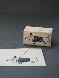 Weiteres - Stempel Dackel - ein Designerstück von perlenfischer bei DaWanda