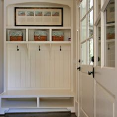 Mudroom Design Ideas modern shaker style black mudroom california closets twin cities This Is An Interesting Design That Uses The Full Height To Create A More Esthetic Look Not Suggesting Boxing In Under Bench A Look Like This Would Have To