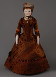 Christian Friedrich Kling  & Co, Ohrdruf, Thuringia  (1834-1941)  —  24 1/2' Bisque Doll 'Lady'   (745×1024)