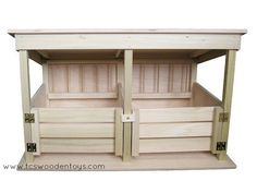 """Finally, a high-quality handmade stable for up to 9"""" high Larger Horses! Large stalls for room to move, beautifully done gates to keep the animals from escaping and running in the field. If your horse"""