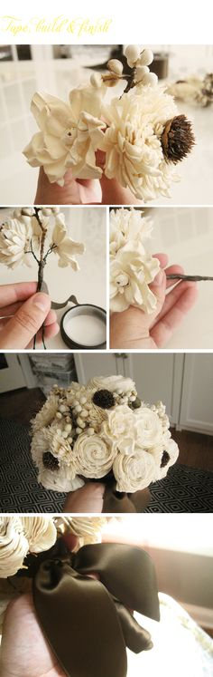 Hmmm. Sola wood flower bouquet. I am so intrigued. I might just make one of these for fun and see what happens!