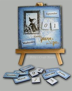 Creative Billie's blog features all kinds of product reviews, tutorials and links to other sites. This piece was created by Billie for Ampersand Art, the makers of Stampbord. It's a perpetual calendar, featuring, of all dates, my birthday!  Thanks, Billie!
