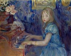 Berthe Morisot, Lucie Léon au piano (Lucie Léon at the Piano), c.1892. Oil on canvas, 65 x 80 cm. Private collection