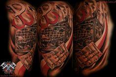 tatuaż polska walcząca powstanie