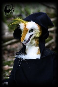 """Hand made Sergal Furry Doll Anthropomorphic  Unique Hand-sculpted Art Doll is a One-Of-A-Kind collectible doll by """"Fantasy-dolls-Zlata"""" - Germany Approximately 15.2 inch (38,5 cm) tall standing."""