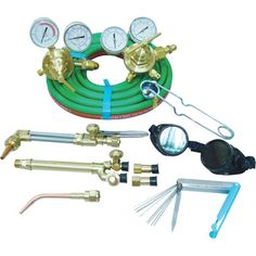 Oxy Acetylene Torch Kit which is great for cutting, bending, welding, brazing, and bolt removal if you need to tap a new bolt hole due common corrosion. Very useful all around equipment.