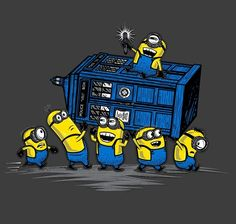 The minions have the policebox!