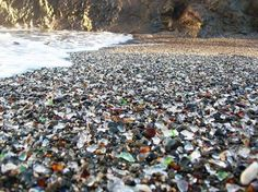 Glass Beach, Fort Bragg, California! I Want to go here SO BAD!!!!