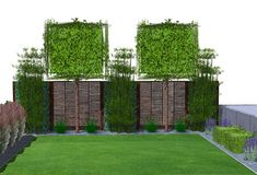 Screening combination Mobile ivy, bamboo and trellis trees #bamboo #combination #mobile #screening #trees #trellis