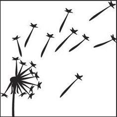 free dandelion stencil | Dandelion stencil