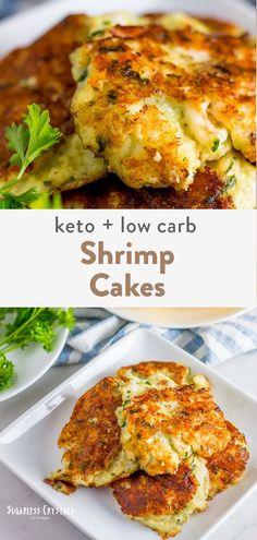 Keto Shrimp Recipes, Fish Recipes, Low Carb Recipes, Cooking Recipes, Healthy Recipes, Flour Recipes, Healthy Cooking, Haddock Recipes, Shrimp Cakes