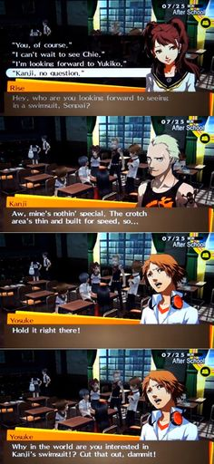 Ah so Persona has been gay for a while, good to know. (Still salty that there wasn't a Ryuji romance route, don't mind me. Velvet Room, Shin Megami Tensei Persona, Gamers Anime, Memes, Persona 4, Lol, Funny Games, Funny Comics, Akira