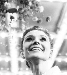 Audrey Hepburn. I honestly, just love this picture of her. I can feel her happiness. Its simple radiant.