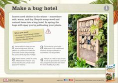 Create your own bug hotel with this project from DK's RSPB 365 Outdoor Activities You Have to Try, then see which bugs, creepy crawlies and other critters come to visit. Book Activities, Outdoor Activities, Bug Hotel, Reading At Home, Mad Science, Outdoor Learning, Forest School, Nonfiction Books, Book Worms