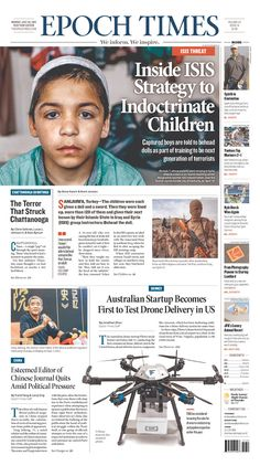 Epoch Times (New York City) via Today's Front Pages   Newseum #newsdesign #newspapers
