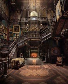 Looks like it's from the movie Crimson Peak. It may be a real place, but it definitely looks like the house in Crimson Peak Gothic Architecture, Beautiful Architecture, Beautiful Buildings, Interior Architecture, Beautiful Homes, Beautiful Places, English Architecture, Classical Architecture, Abandoned Mansions
