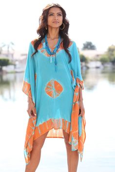Tie-Dye Caftan-Turquoise | Beach Shop | New Arrivals | Sir Alistair Rai