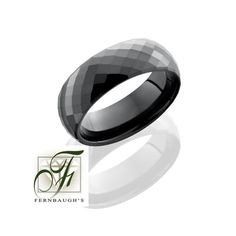 Ceramic Mens Wedding Band
