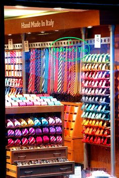 It will take me over an hour to pick out one tie or a few hours for two ties