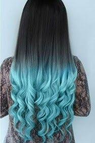Oscuro con puntas azules