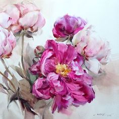 "My painting ""Rhythm of the peony"" will be held in 1st International Watercolor…"