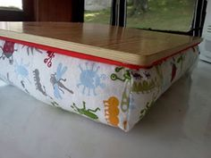 Homemade Lapdesk!! I would love to make these for the girls!