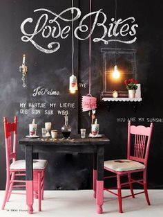 45 Chalkboard wall ideas for different spaces, really fun! by delia