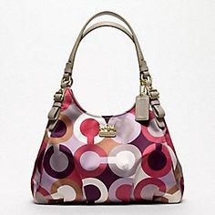 Coach Madison graphic op art maggie - love the colors