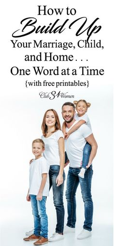 Amazing what a difference a word can make! Words are so powerful and can transform the relationships in your marriage and home - includes 3 free printables! via @Club31Women